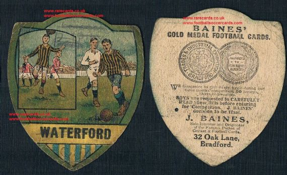 1912 Waterford F.C. Baines card